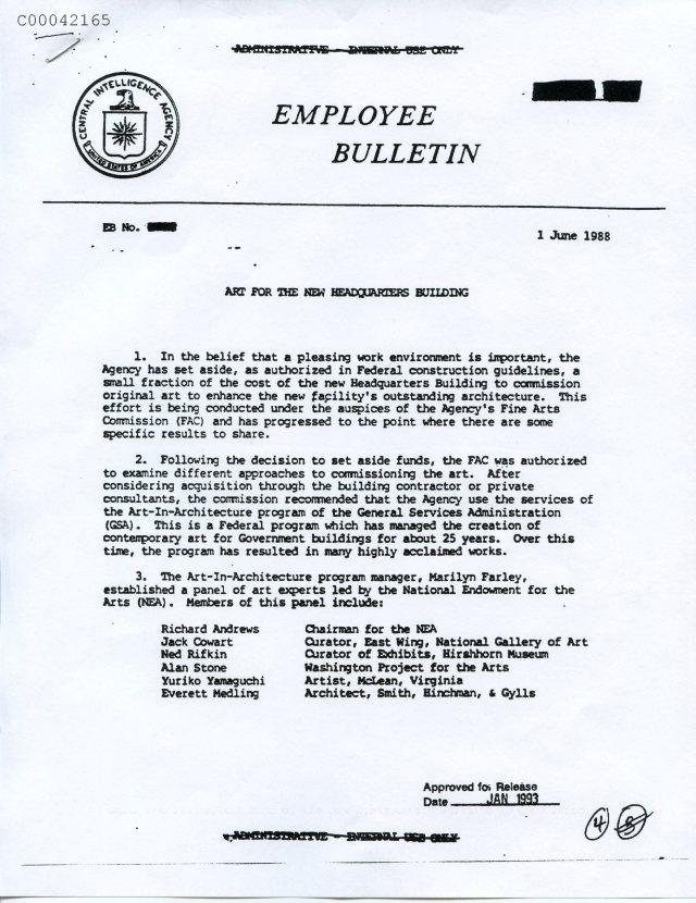 Kryptos Art CIA Bulletin, page 1   Kryptos - Beyond K4