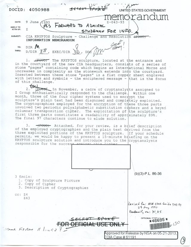 NSA Kryptos FOIA p3