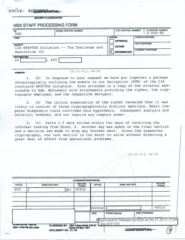 NSA Kryptos FOIA p10