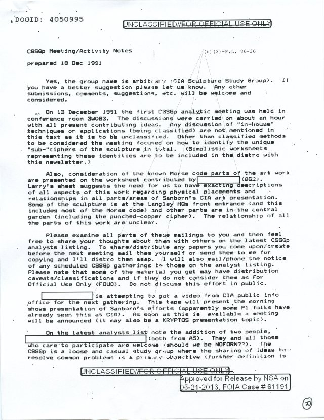 NSA Kryptos FOIA p20