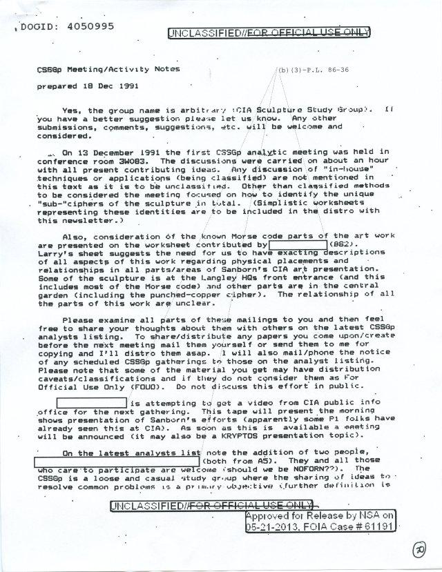 NSA Kryptos FOIA p20