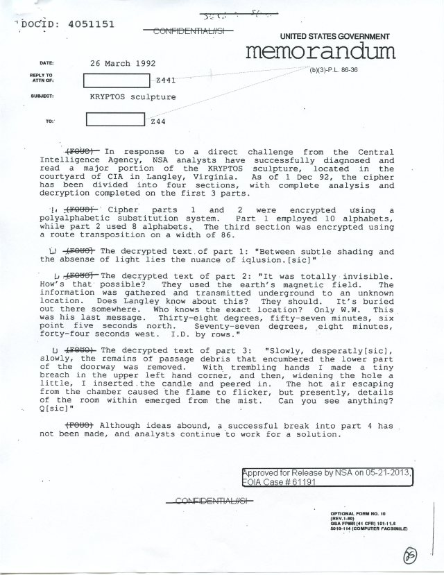 NSA Kryptos FOIA p25