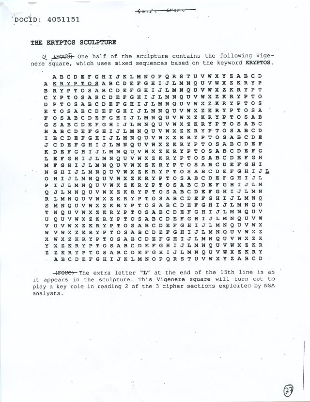 NSA Kryptos FOIA p27