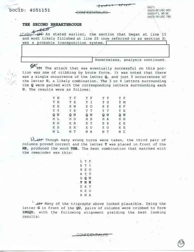 NSA Kryptos FOIA p33