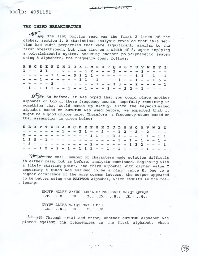NSA Kryptos FOIA p37